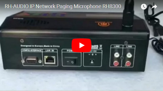 RH-AUDIO IP Network Paging Microphone RH8300