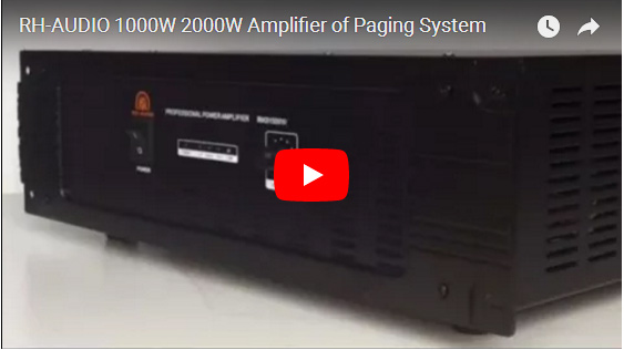 RH-AUDIO 1000W 2000W Amplifier Of Paging System