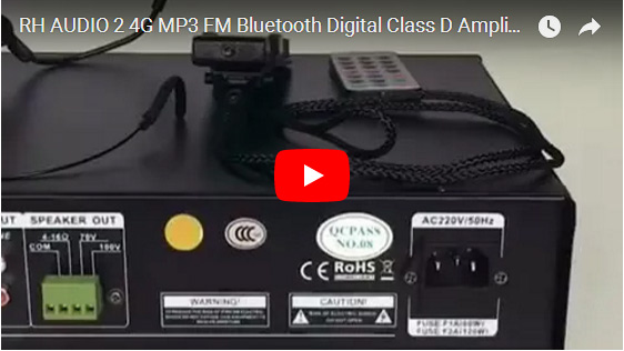 RH AUDIO 2 4G MP3 FM Bluetooth Digital Class D Amplifier