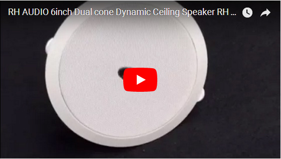 RH AUDIO 6inch Dual Cone Dynamic Ceiling Speaker RH T13