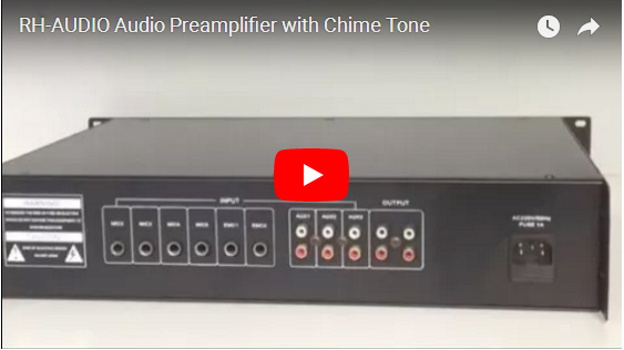 RH-AUDIO Audio Preamplifier With Chime Tone