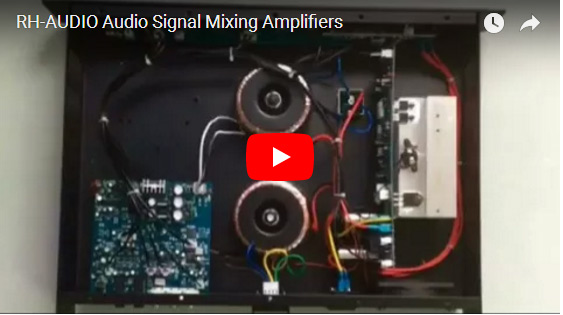 RH-AUDIO Audio Signal Mixing Amplifiers