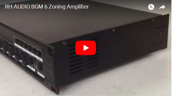 RH-AUDIO BGM 6 Zoning Amplifier