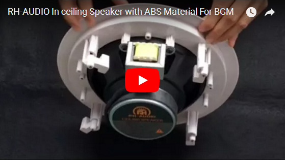 RH-AUDIO In Ceiling Speaker With ABS Material For BGM