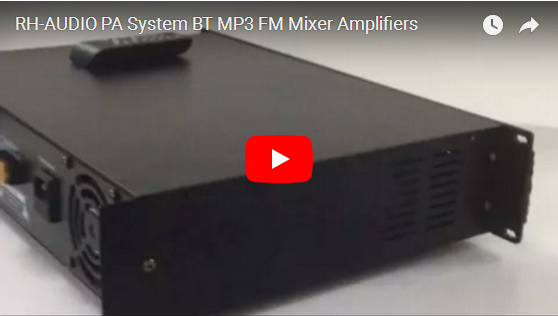 RH-AUDIO PA System BT MP3 FM Mixer Amplifiers