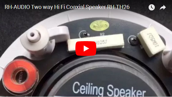 RH-AUDIO Two Way Hi Fi Coaxial Speaker RH-TH26