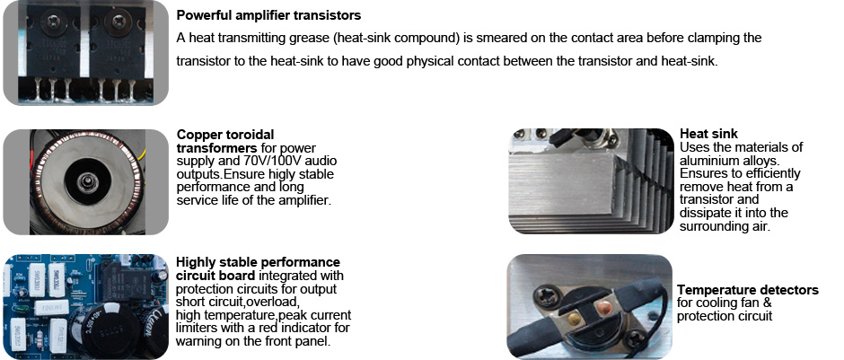 RH-AUDIO Amplifier part details inside
