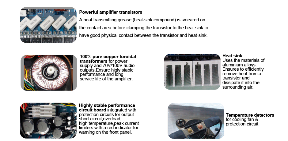 RH-AUDIO High Power Amplifier Details